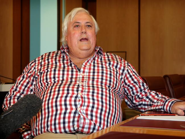In the spotlight … Palmer United Party leader Clive Palmer. Picture: Kym Smith