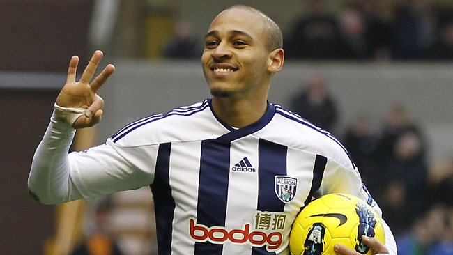 West Bromwich Albion have traded Nigerian forward Peter Odemwingie to Cardiff City.
