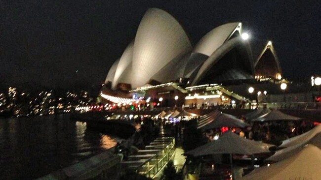 Ellen producer Andy Lassner scouts the Sydney Opera House for her upcoming tour. Picture: Twitter