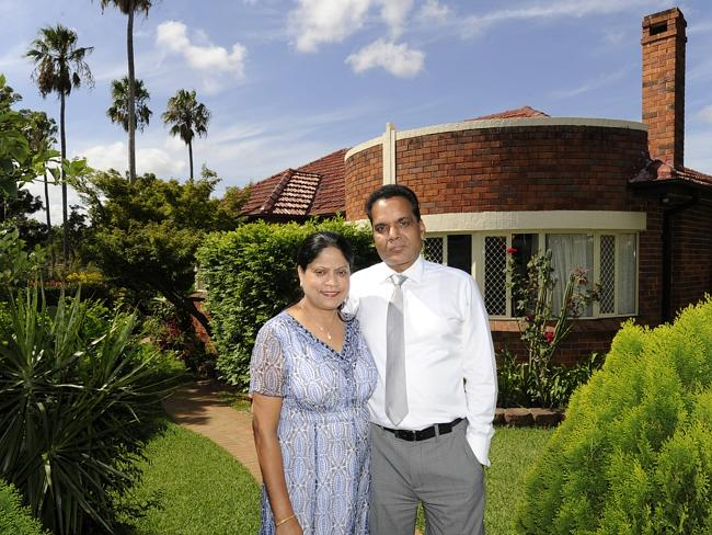 Sudesh and Suman Gupta at 118 Homebush Rd, Strathfield, which sold on the weekend.