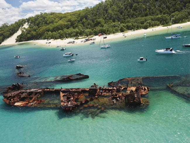 The Tangalooma Wrecks are a unique part of Moreton Island. Picture: Tangalooma Island Resort