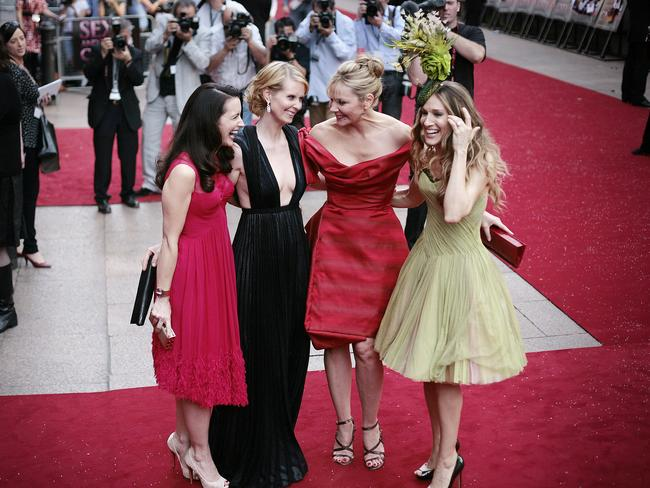 The Sex and the City cast: Kristin Davis, Cynthia Nixon, Kim Catrall and Sarah Jessica Parker.