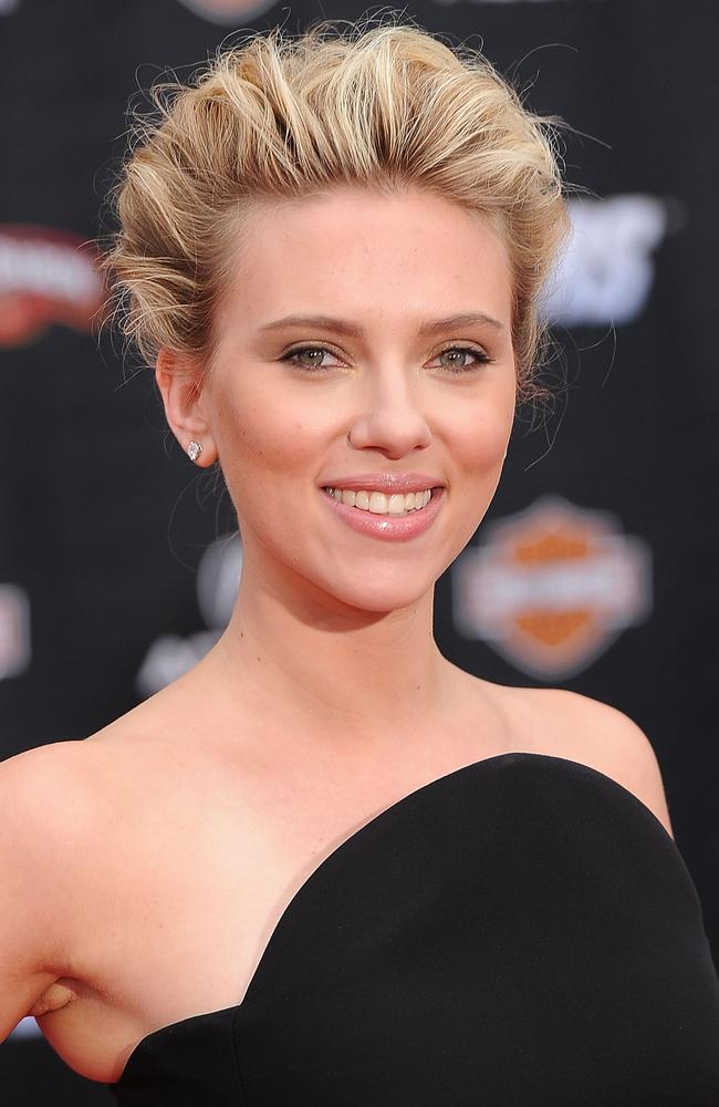 Scarlett Johansson at the premiere of 'The Avengers'.