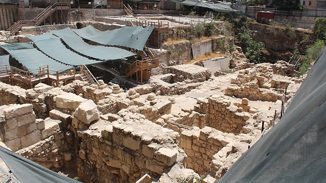 The dig site in the City of David. Picture: Robert Walter Daniel
