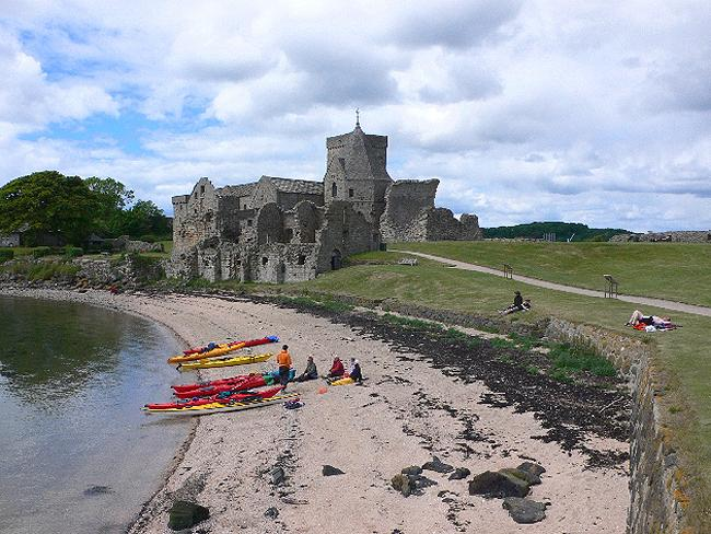 McIsland Caretaker: sunbaking on Inchcolm Island in the Firth of Forth, Scotland.