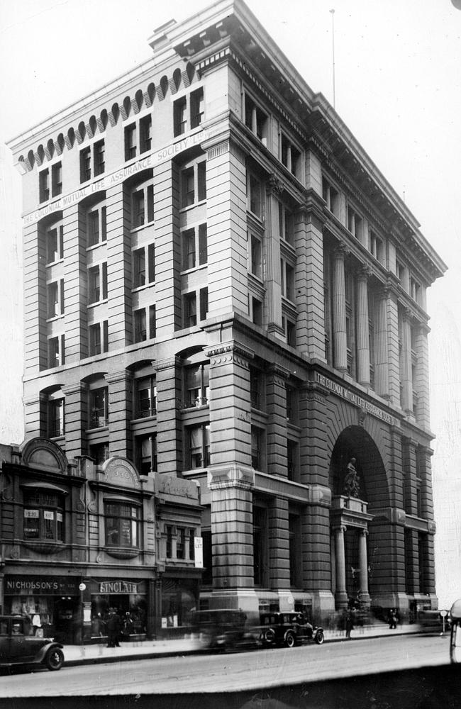 1928: Colonial Mutual Life Building. Picture: Herald Sun Image Library/ARGUS