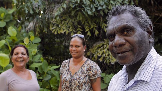 Alison Anderson, Larisa Lee and Francis Xavier Kurrupuwuy. Picture: Aikman Amos