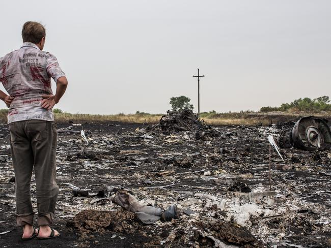 The MH17 crash scene.