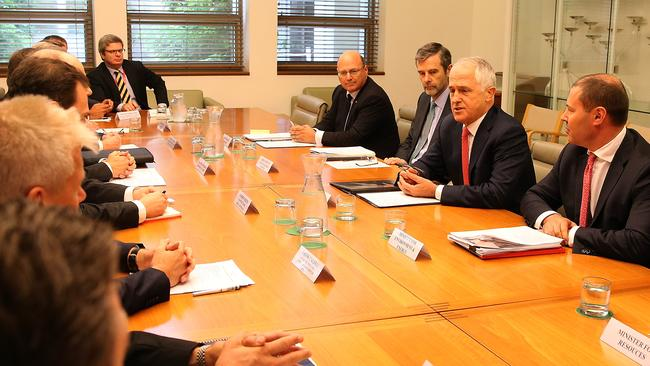 The PM holds a roundtable with the gas industry at Parliament House in Canberra this week. Picture: Kym Smith