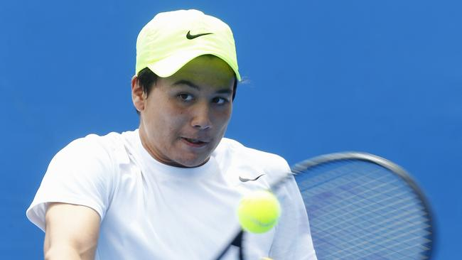 Akira Santillan has come runner-up in the boys' doubles at the French Open.