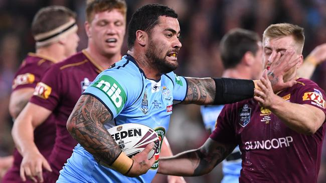 Fifita wasn't willing to give up his spot — but who's in charge? (AAP Image/Dave Hunt)