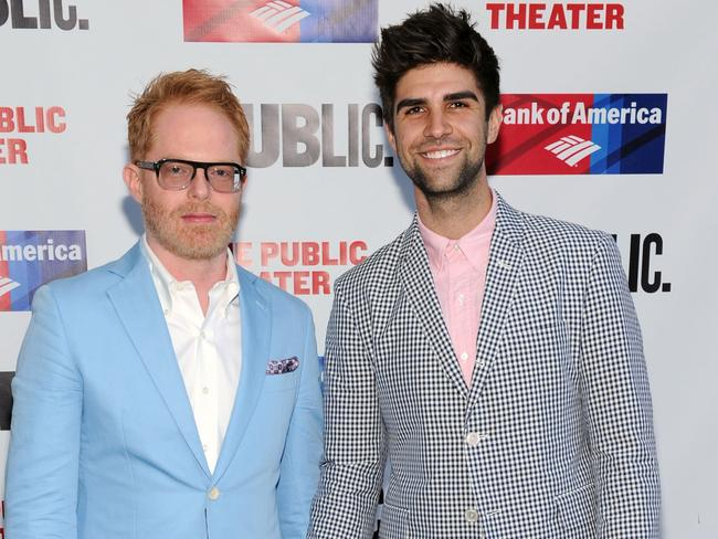 Married ... Jesse Tyler Ferguson (L) and husband Justin Mikita.