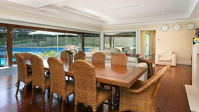 THE dining room overlooks the pool area. Picture: realestate.com.au