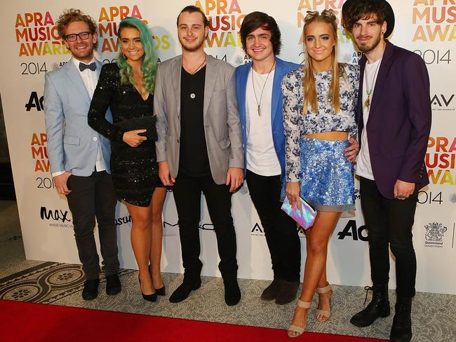popular live act ... Sheppard arrives at the APRA Awards. Picture: Chris Hyde/Getty Images