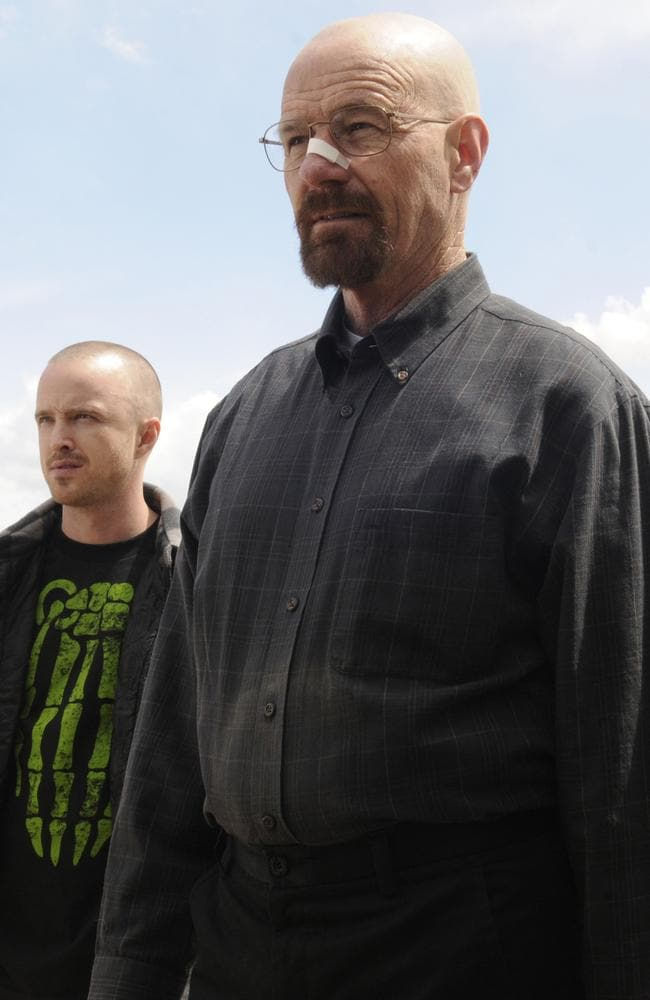 Compelling performance ... Bryan Cranston as Walker White with Aaron Paul as Jesse Pinkman in Breaking Bad. Picture: Supplied