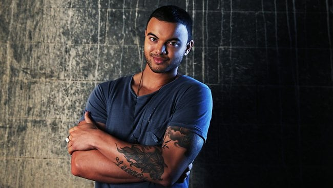 Portrait of Guy Sebastian on location where he was shooting his new video clip. Photo: Sony