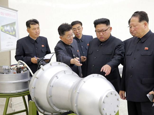 North Korea claims it successfully tested a hydrogen bomb. Picture: KCNA/AP