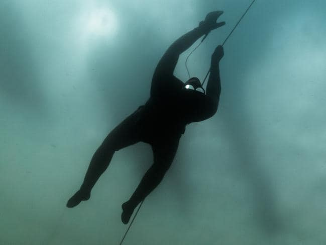 Ant Williams competes in the extreme sport of freediving