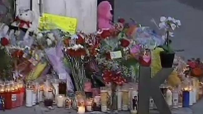 Remembering Kim ... supporters have left memorials outside the nightclub where Ms Pham was bashed.