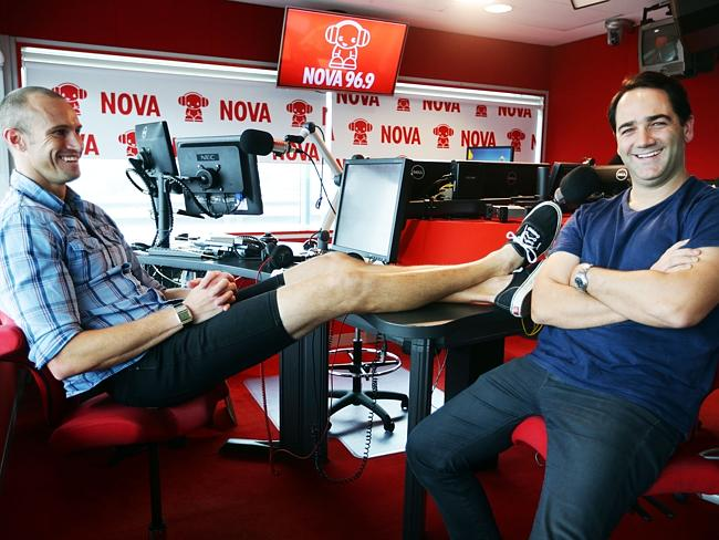 Give these boys a Logie. Fitzy's fake tears fooled everyone at Nova this morning.
