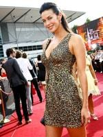 <p>Red carpet ... Model Megan Gale arrives for 2007 ARIA Awards.</p>