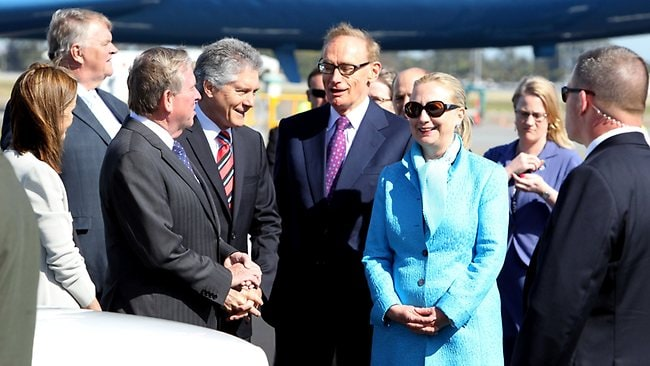 US Secretary of State Hillary Clinton, Perth