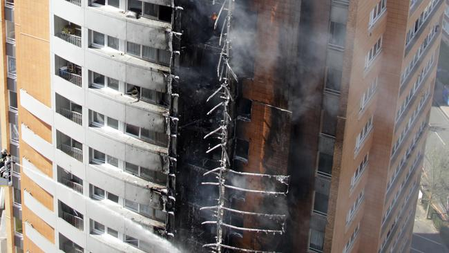 The Mermoz building fire in Roubaix, northern France, in, 2012 was also linked to cladding. Pictures: Reuters/pascal Rossignol