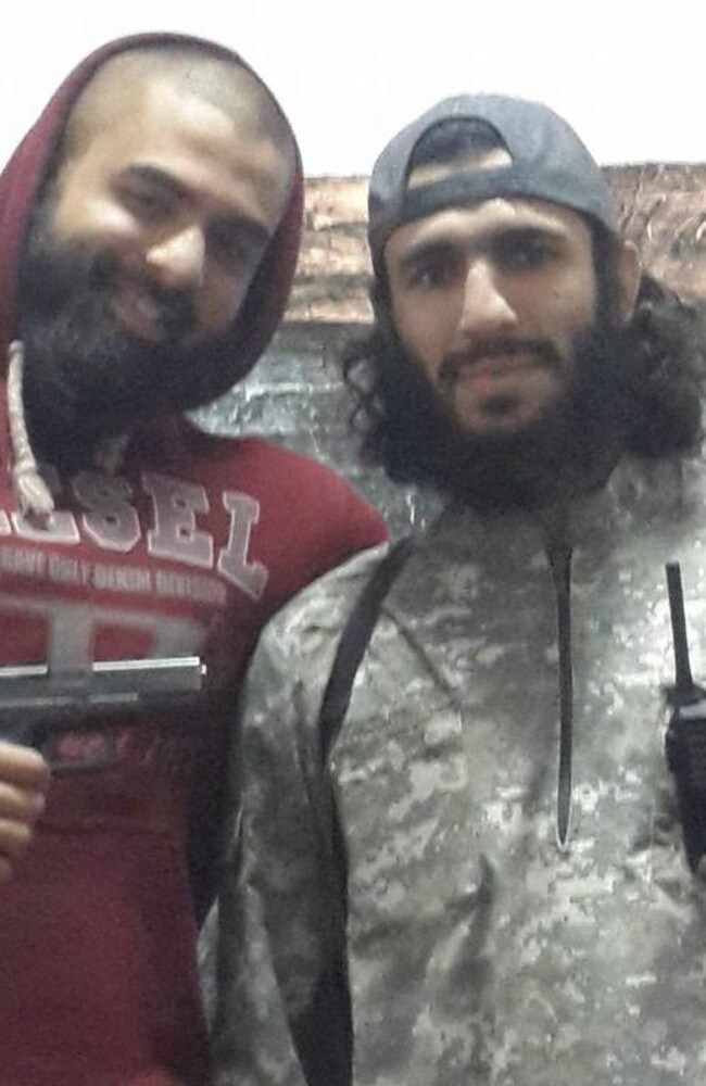 Mohamed Elomar (right) with ISIS jihadist Suhan Rahman somewhere in the Middle East.