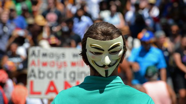 Multiple demonstrations ... protesters braved the heat to rally against the G20 Summit in Brisbane. Picture: AFP
