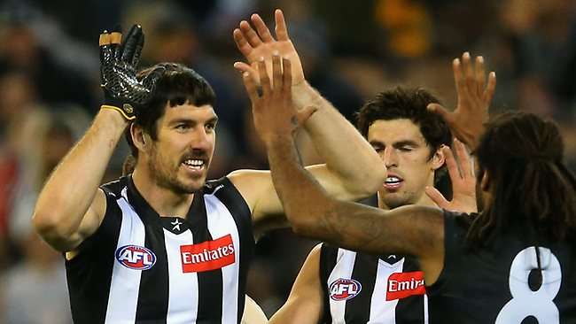 Old boy ... Quinten Lynch kicked two early goes against West Coast.
