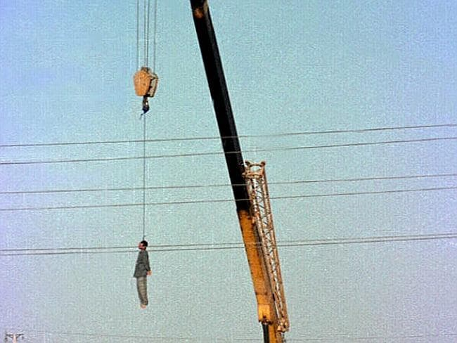 In Iran, some inmates are executed in public displays.