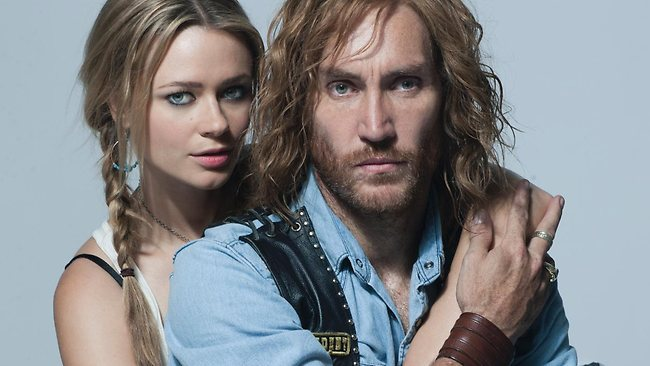 Callan Mulvey and Maeve Dermody star in Bikie Wars: Brothers In Arms. Picture: Channel 10