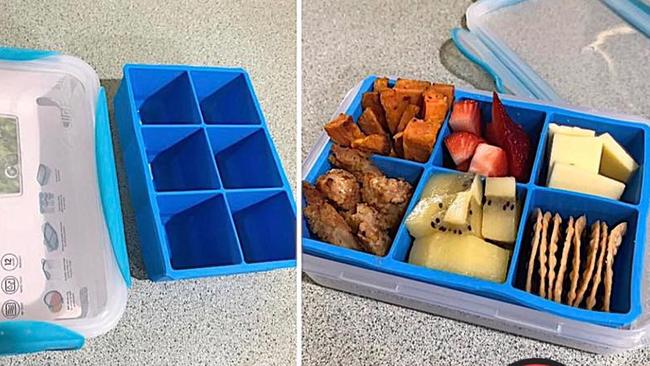 bento box lunch box for kids ice cube tray diy method is genius adelaide now. Black Bedroom Furniture Sets. Home Design Ideas