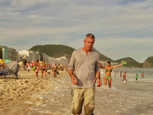 Ben Knight on Copacabana Beach, Rio, Brazil. Picture: Four Corners