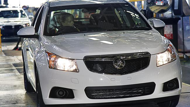 White out ... The Holden Cruze is likely to be phased out of production at the Elizabeth plant in South Australia. Picture: Supplied.