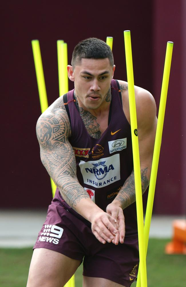 Daniel Vidot at Brisbane Broncos training.