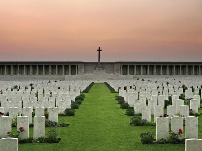 The Pozieres Memorial, France where 6700 Diggers were killed. Picture: Scott Barbour/Getty Images