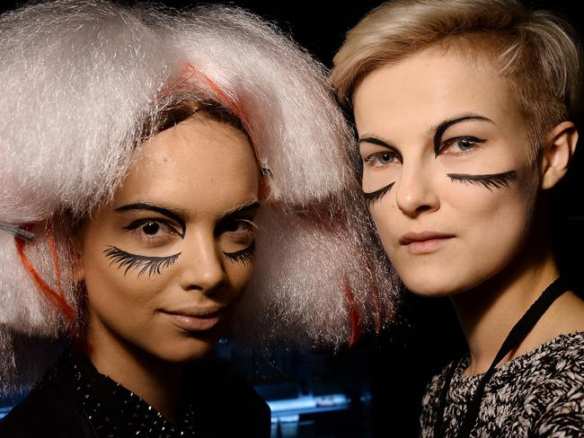 Models backstage at the L'Oreal Professional show in Turkey. Picture: Getty.