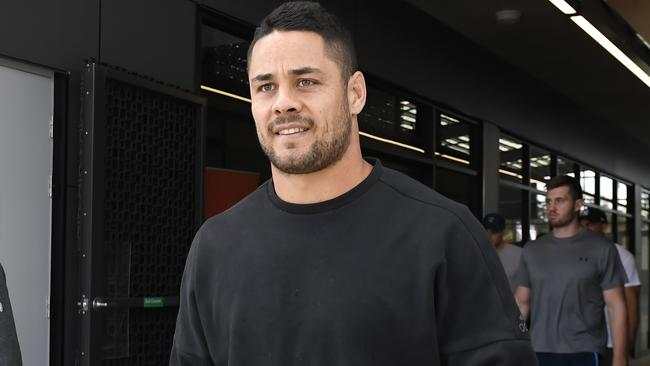 Gold Coast Titans player Jarryd Hayne was in Sydney when the Titans were playing but didn't show up to the game. (AAP Image/Dave Hunt)