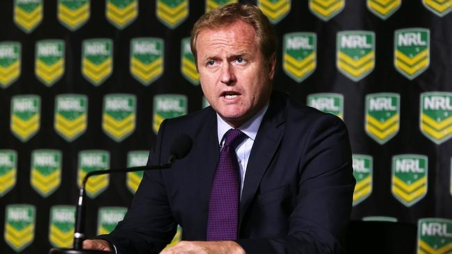 NRL CEO Dave Smith announces the Cronulla Sharks have been fined $1 million and Shane Flanagan has been suspended for 12 months over the ASADA scandal.