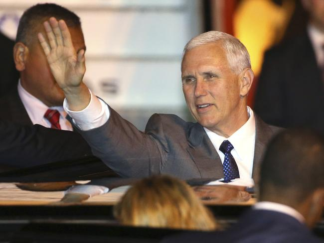 Mike Pence will meet with Malcolm Turnbull today.
