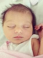 """Media personality Kate Waterhouse shares a pic of her gorgeous new bub, """" Our little angel, Sophia Edie Ricketson."""" Picture: Instagram"""