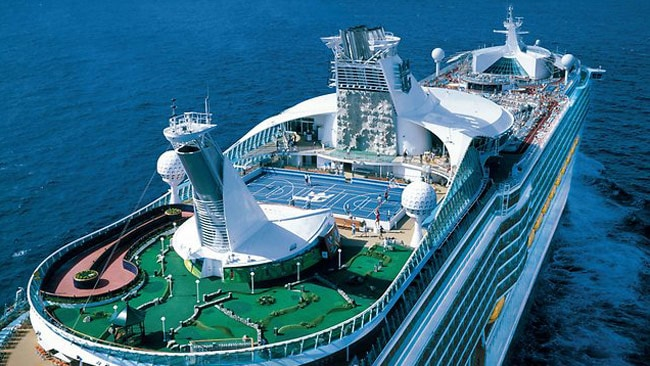 Voyager of the Seas is one the world's biggest ships and is packed with entertainment. Picture: Royal Caribbean International