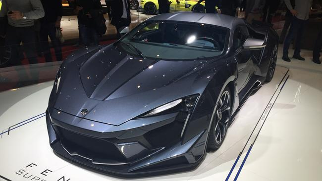 The Fenyr Supersport at the 2018 Geneva motor show. Pic: Supplied.