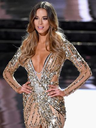 Miss Australia 2015, Monika Radulovic, competes in the evening gown competition. Picture: Getty