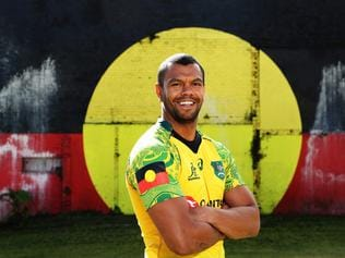 Kurtley Beale wears Indigenous Wallabies jersey