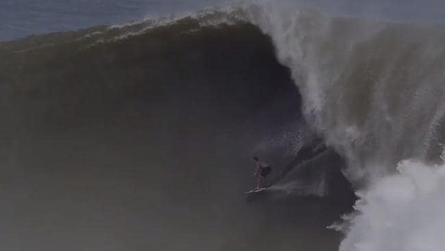 Brad Domke riding the wave in Mexico.