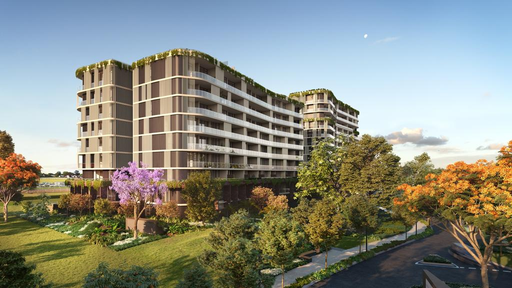 An artist's impression of the first tower at the Ascot Green project at Eagle Farm. Picture: Supplied