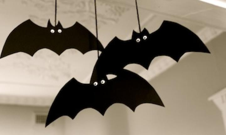 Make a spooky bat decoration