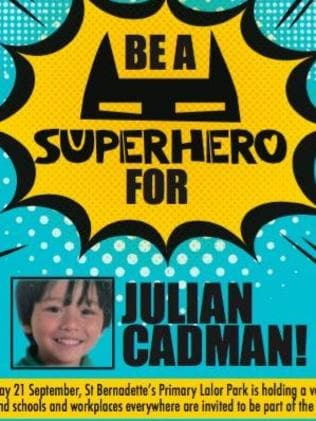 People were encouraged to 'be a superhero for Julian' for a day. Picture: Supplied